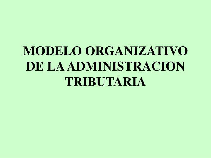 Modelo organizativo de la administracion tributaria