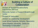 building a culture of collaboration