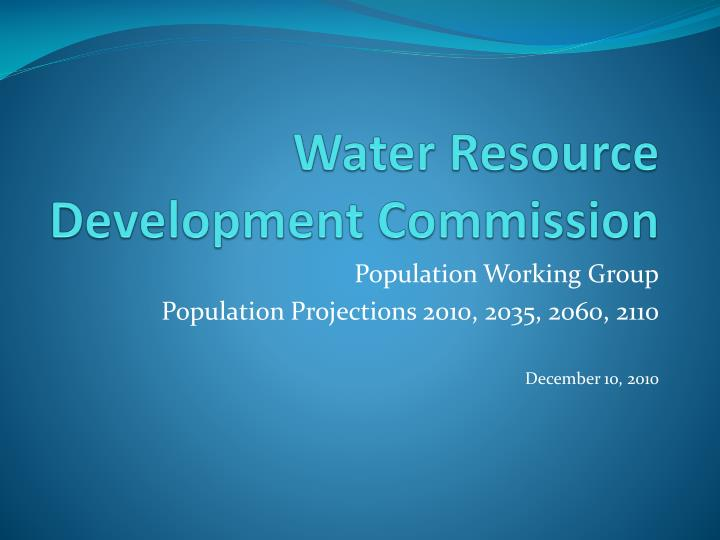 water resource development commission n.