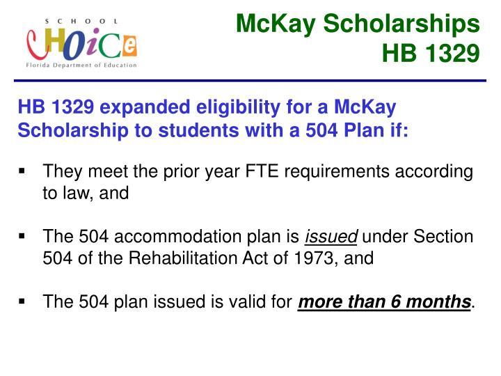 McKay Scholarships
