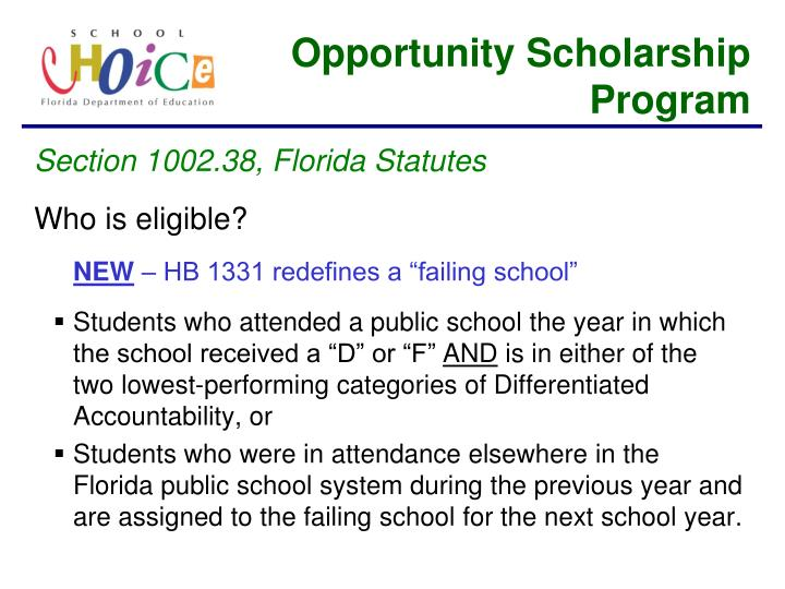 Opportunity Scholarship Program