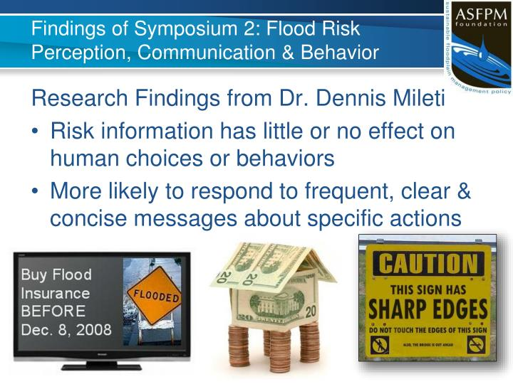 Findings of Symposium 2: Flood Risk Perception, Communication & Behavior