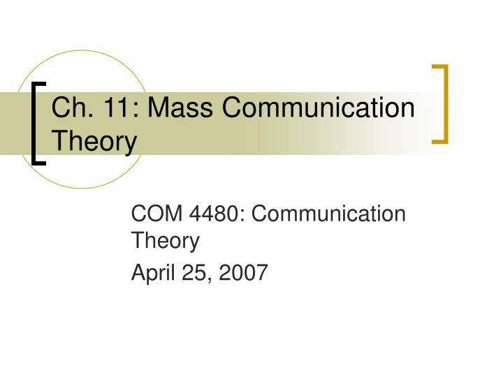 ch 11 mass communication theory n.