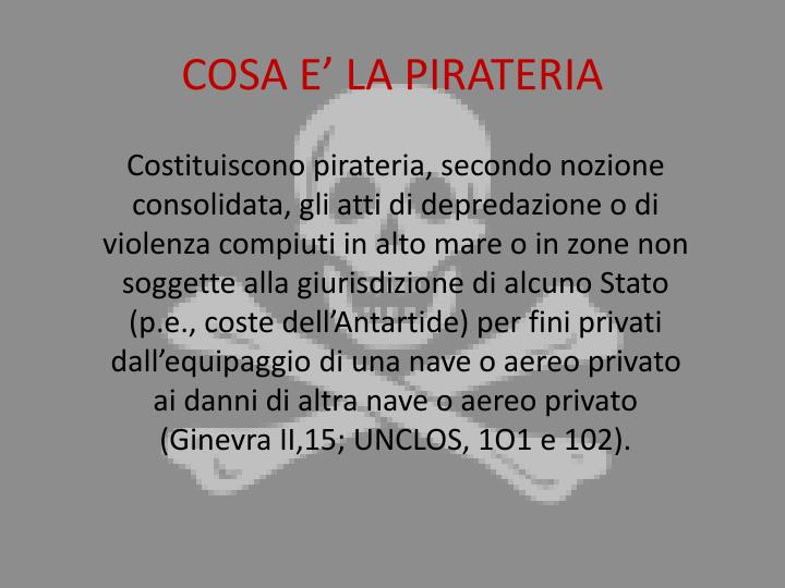 Cosa e la pirateria