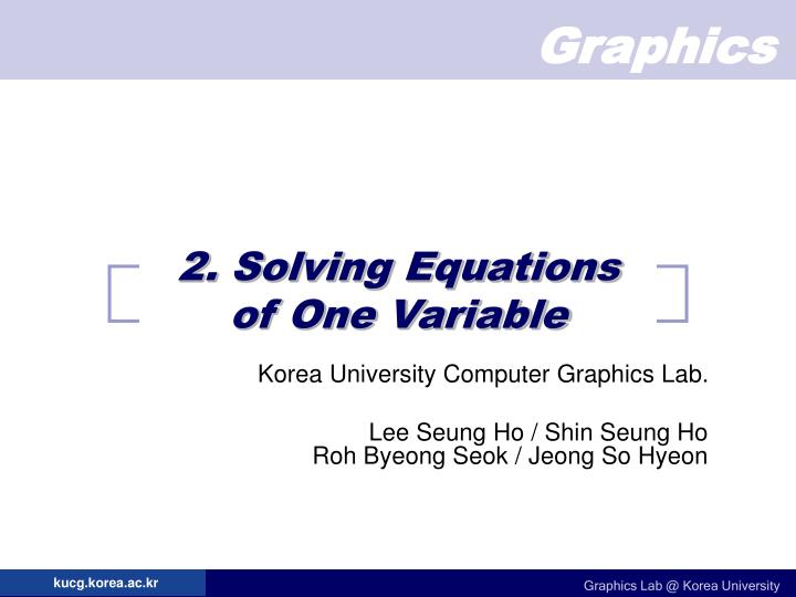 2 solving equations of one variable n.