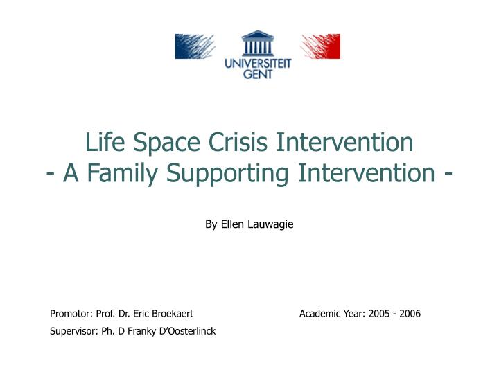 life space crisis intervention a family supporting intervention n.