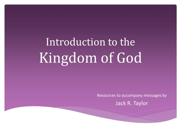 introduction to the kingdom of god n.