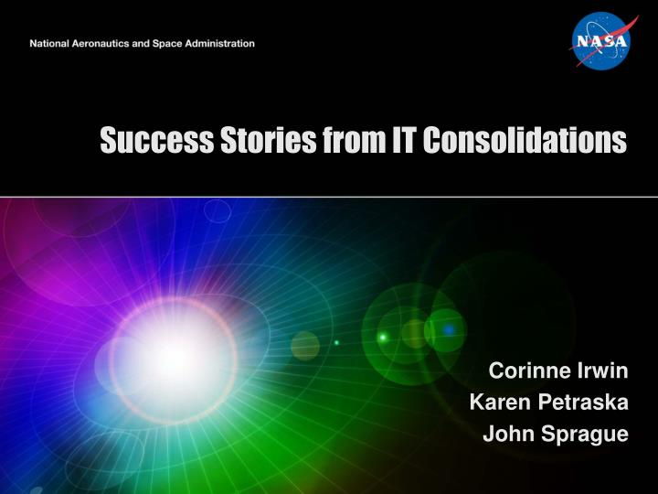 success stories from it consolidations n.