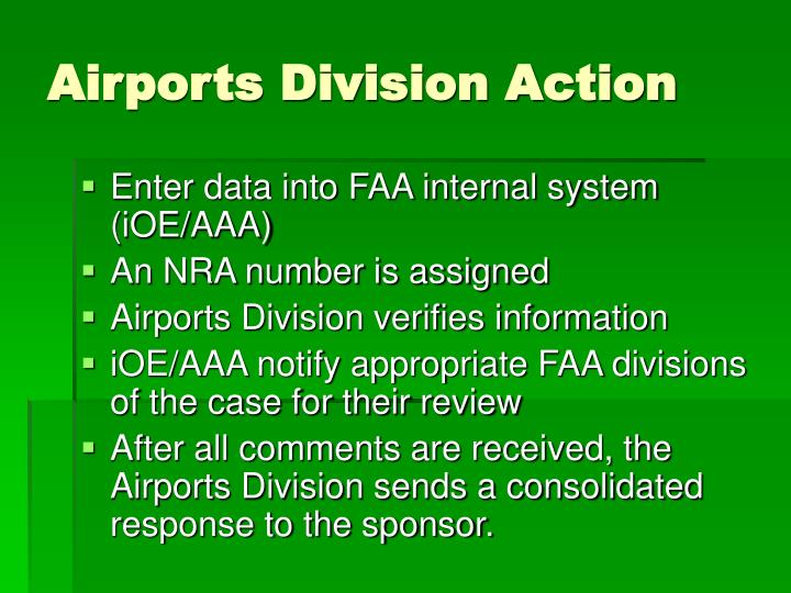 Airports Division Action