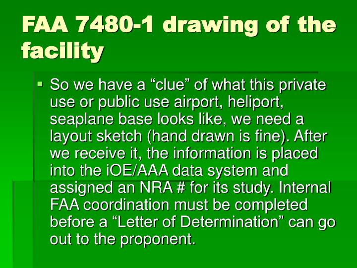 FAA 7480-1 drawing of the facility