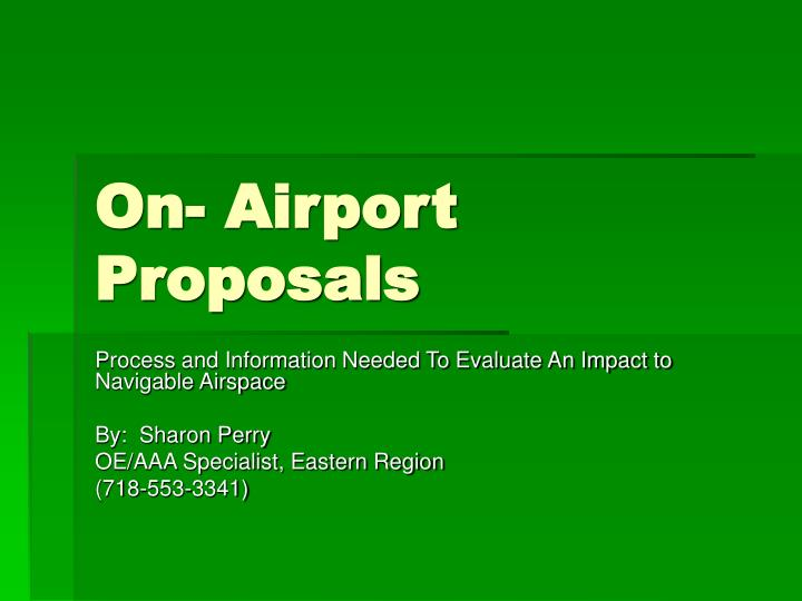 On airport proposals