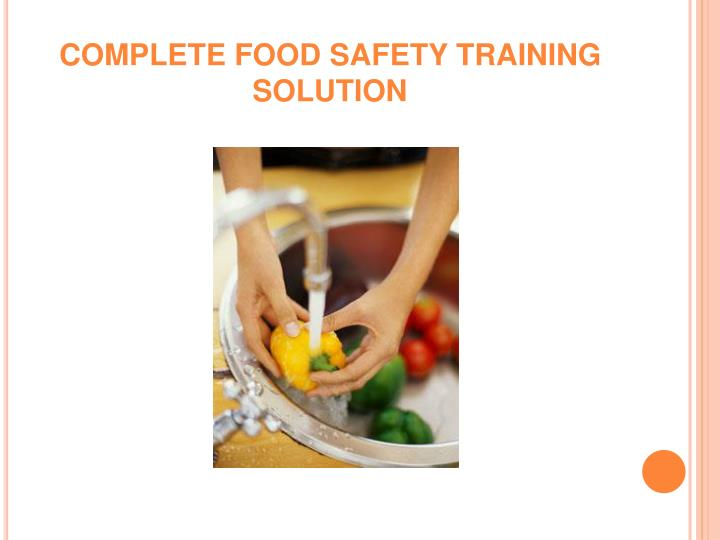 complete food safety training solution n.
