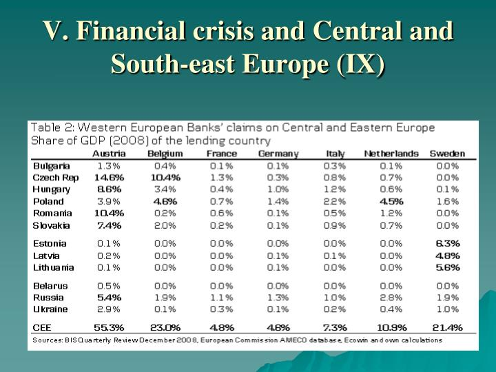 eastern europe financial crisis Abstract during the boom years 2000-2007, the new central and east european (cee) members of the european union (eu) had more than twice as high economic growth as the 15 countries that were members of the eu before 2004.