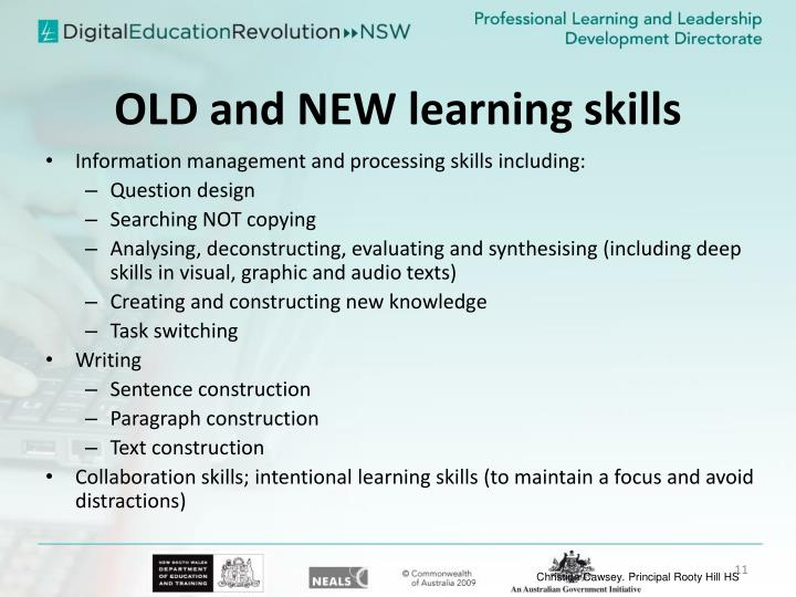 OLD and NEW learning skills