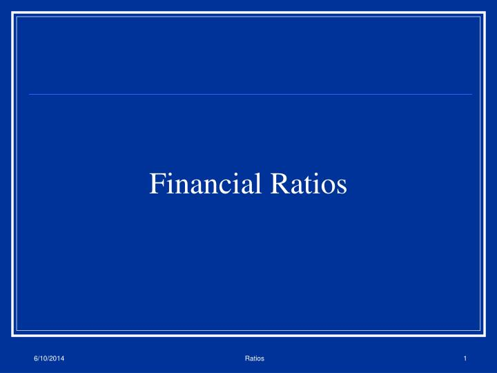 financial ratios n.