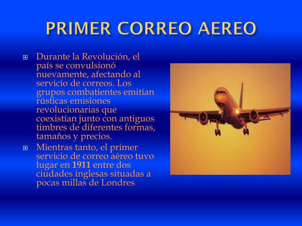 PRIMER CORREO AEREO