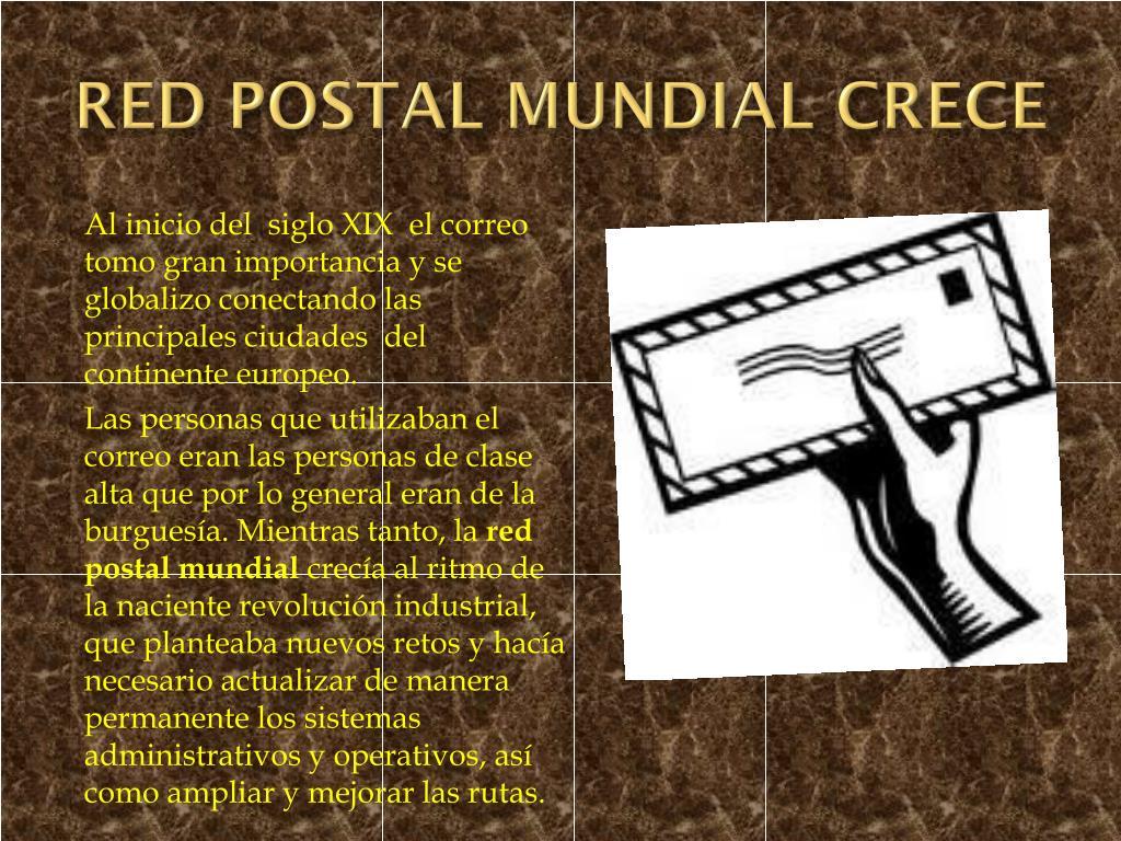 RED POSTAL MUNDIAL CRECE