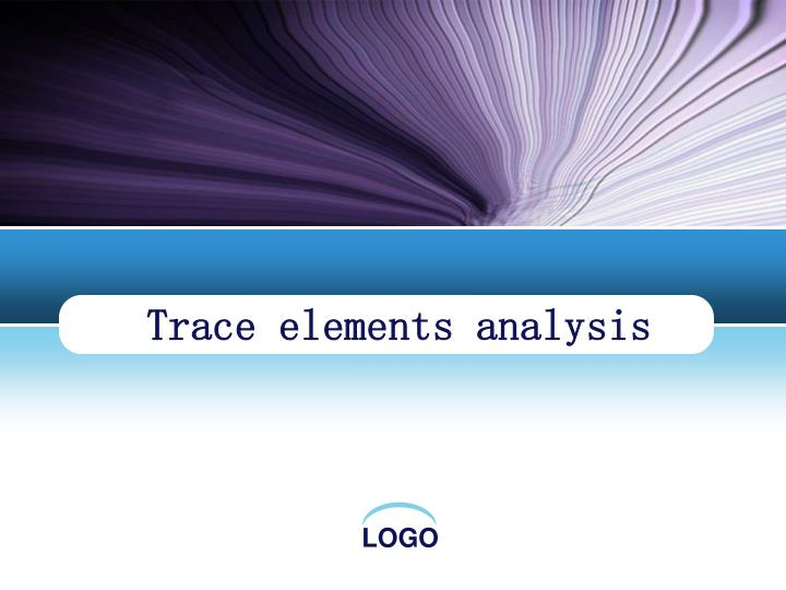 trace elements analysis n.