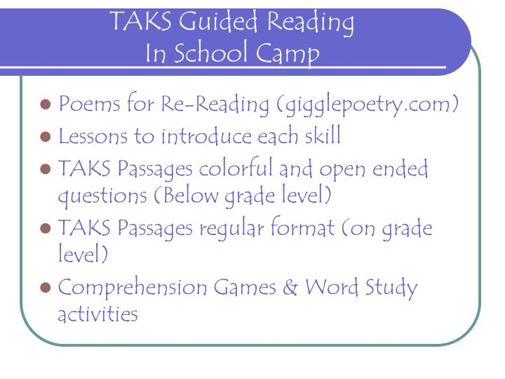 TAKS Guided Reading