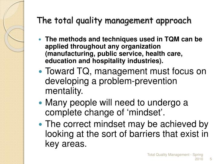 tqm an approach toward good governance Good governance and social responsibilty that have led towards a greater outlines one's approach to good governance and.