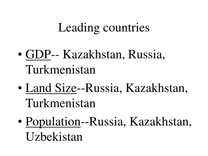Leading countries