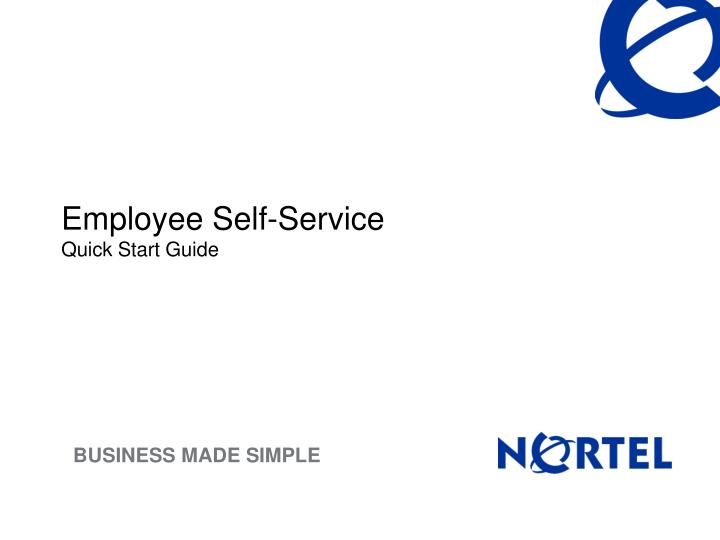 employee self service quick start guide n.