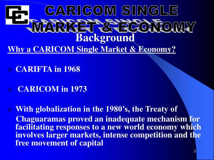 caricom formation Development of a caricom strategic plan for primary and secondary education services in the caricom single market and economy (csme) by dr didacus jules registrar caribbean examinations council  realization ie is education assisting in the formation of the ideal caribbean person.