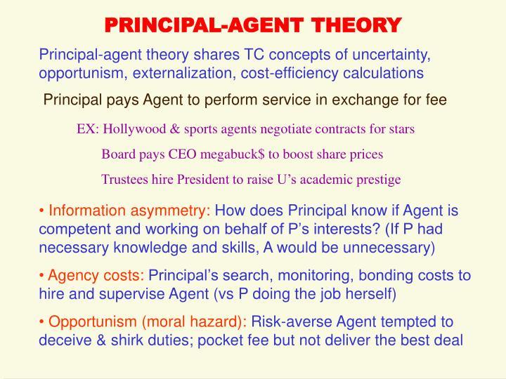 principal and agent theory