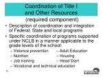 coordination of title i and other resources