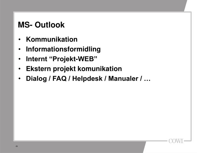 MS- Outlook