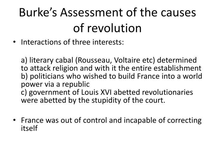 Burke's Assessment of the causes of revolution
