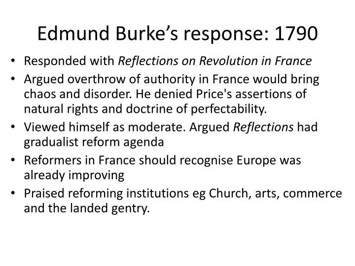 Edmund Burke's response: 1790