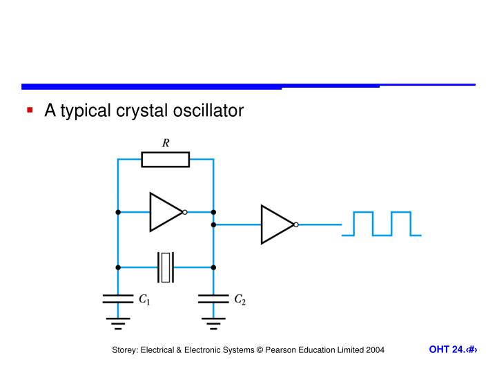 A typical crystal oscillator