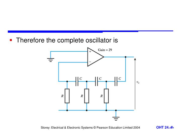 Therefore the complete oscillator is