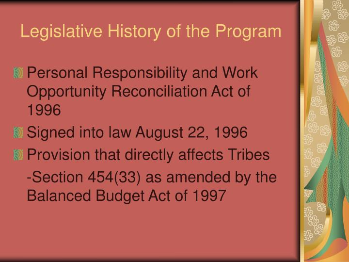 a look at the impact of the 1996 personal responsibility and work opportunity reconciliation act The personal responsibility and work opportunity reconciliation act (prwora) of 1996 dramatically reformed the nation's welfare system mpi's amanda levinson takes a closer look at how these changes affected immigrants.