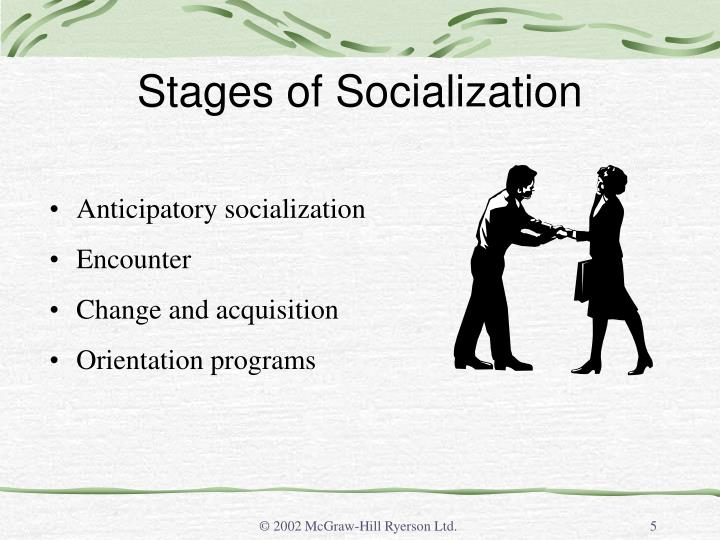 Stages of Socialization