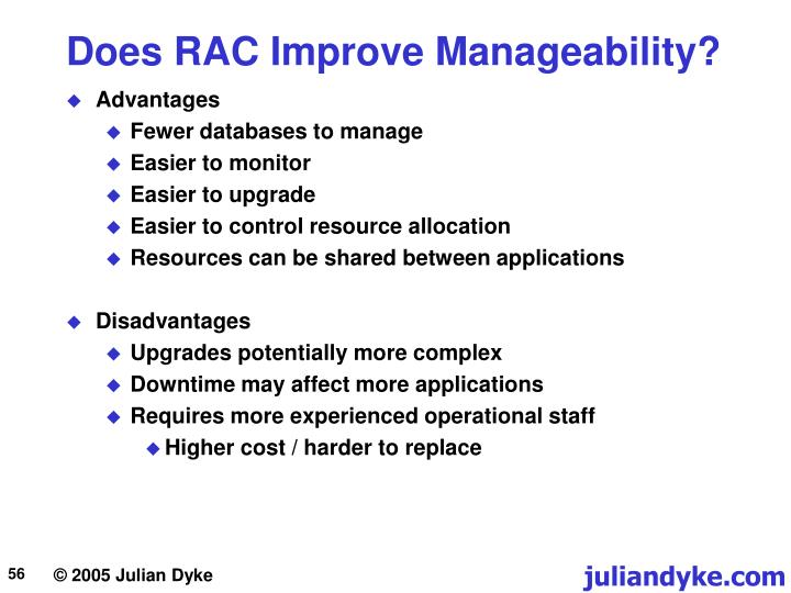Does RAC Improve Manageability?