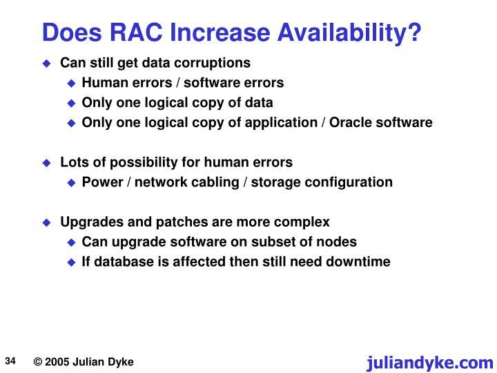 Does RAC Increase Availability?