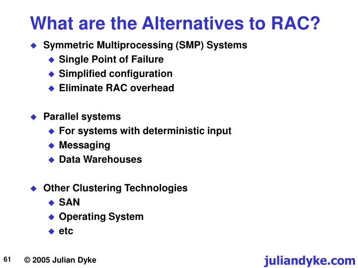 What are the Alternatives to RAC?