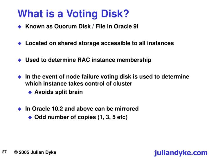What is a Voting Disk?