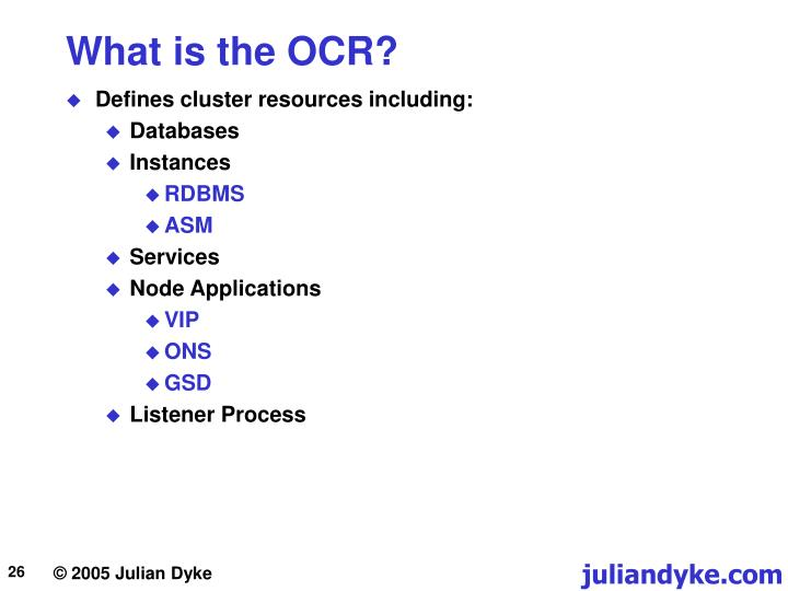 What is the OCR?