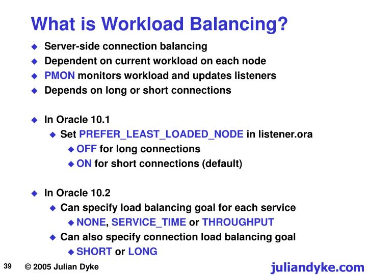 What is Workload Balancing?