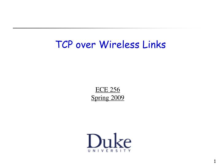 tcp over wireless links n.