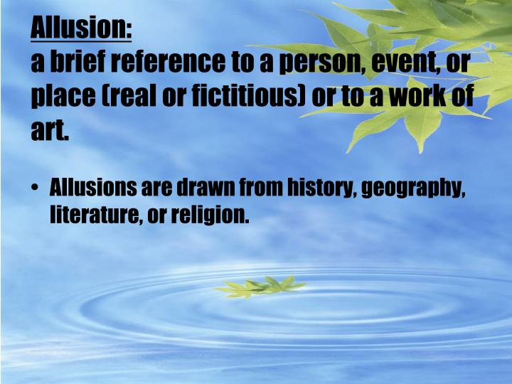 Allusion: