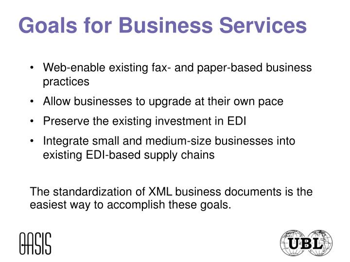 Goals for business services