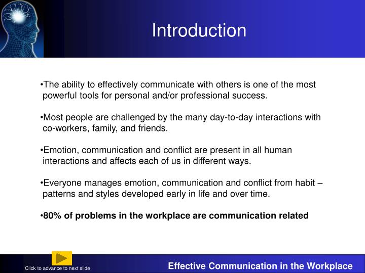 effective communication in the workplace case studies Workplace communication: a case study on informal communication network within an organization  are related to workplace communication the effective and the efficient communication (scott, 2005) effective communication, when the message of the sender has a successful decoding from  study journal of business communication.