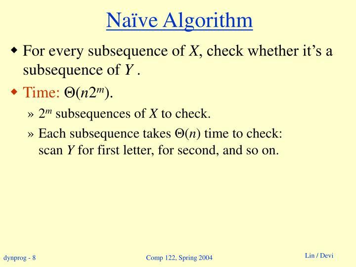 Naïve Algorithm
