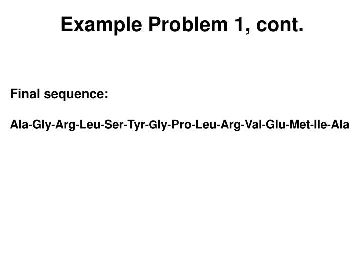 Example Problem 1, cont.