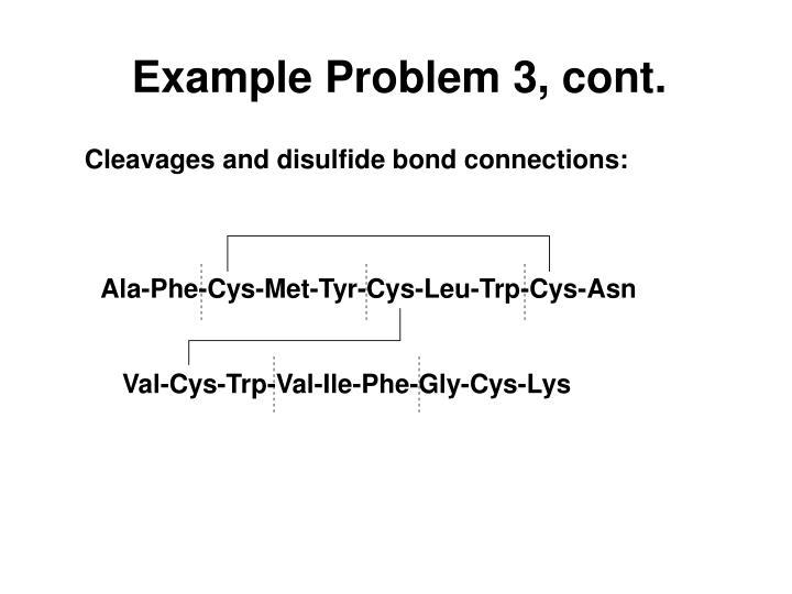 Example Problem 3, cont.