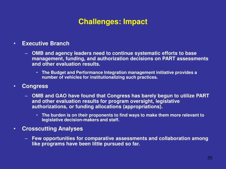 Challenges: Impact